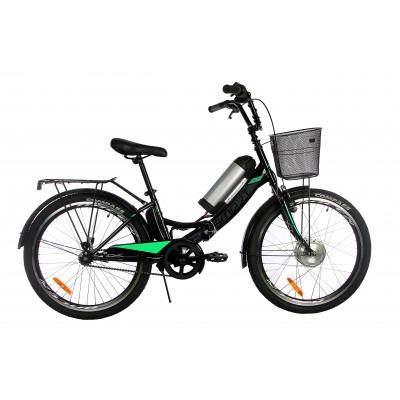 Электровелосипед складной с низкой рамой Formula Smart 36V 8Ah 350W чёрно-зеленый