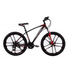 """Велосипед на литых дисках Kerambit 26"""" рама 17"""" черно-красный"""