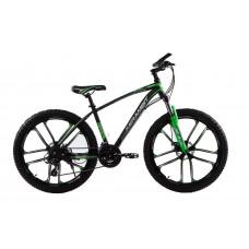 """Велосипед на литых дисках Kerambit 26"""" рама 17"""" черно-зеленый"""
