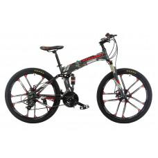 """Велосипед складной на литых дисках Kerambit 26"""" / рама 17"""" серый"""