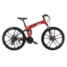 """Велосипед складной на литых дисках Kerambit 26"""" / рама 17"""" красный"""