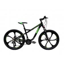 """Велосипед RIOT на литых дисках 26"""" / рама 18"""" чёрно-зелёный"""