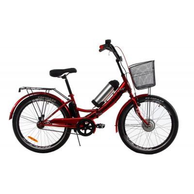 """Складаний електровелосипед Formula Smart передній привід із заниженою рамою 24"""" 15"""" червоний"""