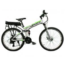 """Електровелосипед складаний МАКЕ 36V 12Ah 500W 26"""", рама 17"""" біло-салатний"""