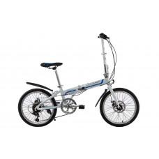 "Велосипед складной Kerambit 20"" / рама 17"" бело-синий"