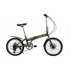 """Велосипед складной Kerambit 20"""" / рама 17"""" серо-зеленый"""