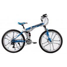 """Складной велосипед Kerambit на литых дисках 26"""" бело-голубой"""