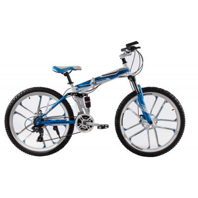 """Складаний велосипед Kerambit на литих дисках 26"""" біло-блакитний"""