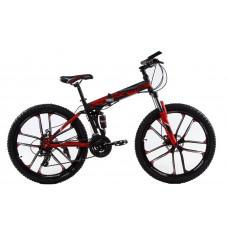"""Складной велосипед Kerambit на литых дисках 26"""" чёрно-красный"""