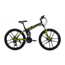 """Складной велосипед Kerambit на литых дисках 26"""" чёрно-желтый"""