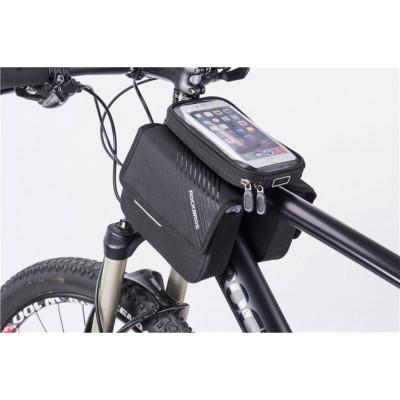 """Велосипедная сумка """"ROCKBROS"""" для установки на раму с двумя отделениями"""