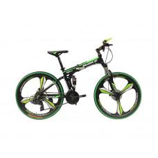 """Велосипед со складной рамой 26"""" зеленый"""