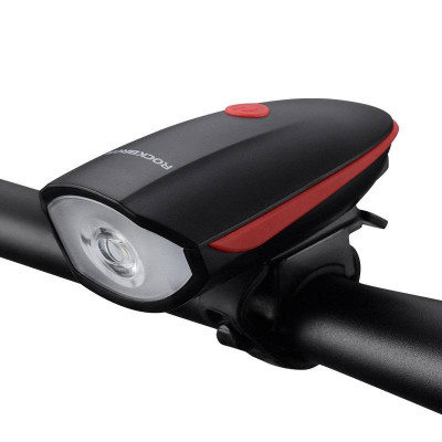 Водонепроникна LED фара для велосипеда з вбудованим сигналом (1200 мАг)