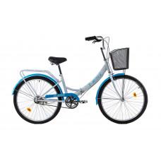 """Велосипед E-motion складной с низкой рамой 17"""" бело-голубой"""