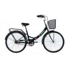 """Велосипед E-motion складной с низкой рамой 17"""" черно-зеленый"""