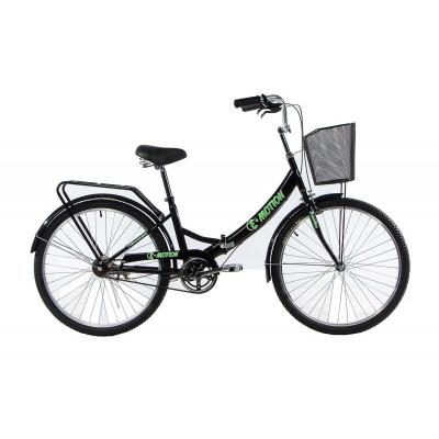"""Велосипед E-motion складаний з низькою рамою 17"""" чорно-зелений"""