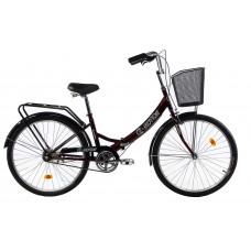 """Велосипед E-motion складной с низкой рамой 17"""" темно-красный"""