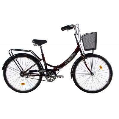 """Велосипед E-motion складаний з низькою рамою 17"""" темно-червоний"""