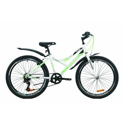 """Велосипед ST 24"""" Discovery FLINT Vbr с крылом Pl 2020 (бело-зеленый)"""
