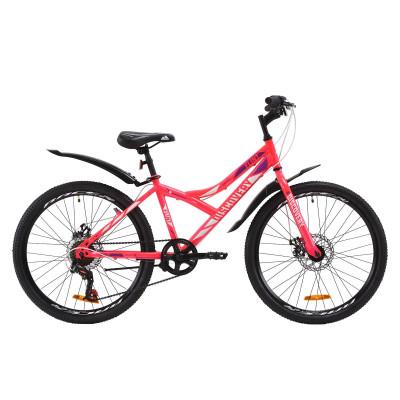 """Велосипед ST 24"""" Discovery FLINT DD з крилом Pl 2020 (рожевий)"""