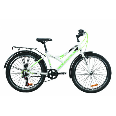 """Велосипед ST 24"""" Discovery FLINT Vbr з багажником зад St, з крилом St 2020 (біло-зелений)"""