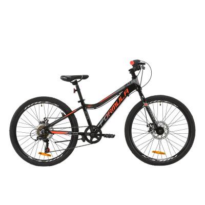 """Велосипед AL 24"""" Formula ACID 1.0 DD 2020 (чорно-червоний з сірим)"""