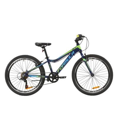 """Велосипед AL 24"""" Formula ACID 1.0 Vbr 2020 (індиго з салатовим і блакитним)"""