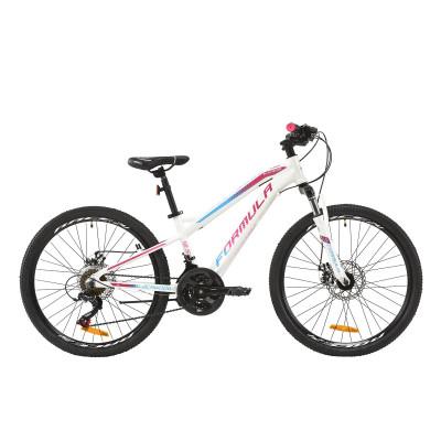 """Велосипед AL 24"""" Formula BLACKWOOD 1.0 AM DD 2020 (біло-фіолетовий з блакитним)"""