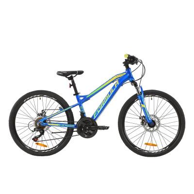 """Велосипед AL 24"""" Formula BLACKWOOD 1.0 AM DD 2020 (синьо-жовто-салатовий)"""