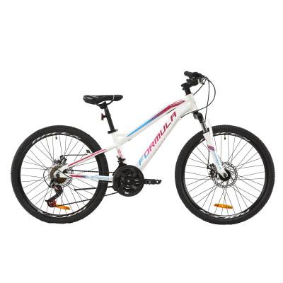 """Велосипед AL 24"""" Formula BLACKWOOD 2.0 AM DD 2020 (бело-фиолетовый с голубым)"""