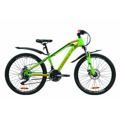 """Велосипед 24"""" Formula DAKAR 2020 (зелено-помаранчевий з чорним)"""