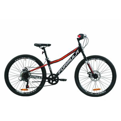 """Велосипед 24"""" Formula FOREST DD 2020 (черно-красный)"""