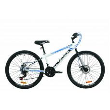 """Велосипед ST 26"""" Discovery ATTACK DD 2020 (біло-чорний з синім)"""