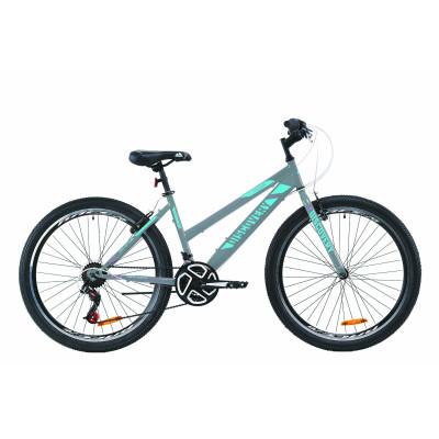 "Велосипед ST 26"" Discovery PASSION Vbr 2020 (серебристо-голубой с малиновым)"