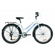 """Велосипед ST 26"""" Discovery PRESTIGE WOMAN Vbr з багажником зад St, з крилом St (біло-блакитний)"""