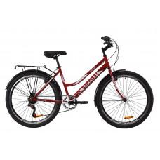 """Велосипед ST 26"""" Discovery PRESTIGE WOMAN Vbr з багажником зад St, з крилом St (рубіновий)"""