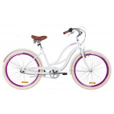 "Велосипед 26"" Dorozhnik CRUISE 14G планет. Al с крылом St 2019 (белый)"