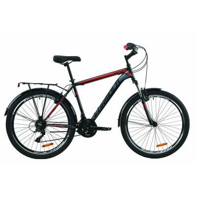 """Велосипед 26"""" Formula MAGNUM 2020 (черно-красный с серым)"""