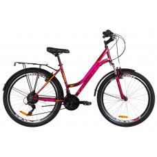 """Велосипед 26"""" Formula OMEGA AM 14G Vbr St с багажником зад St, с крылом St (малиновый)"""