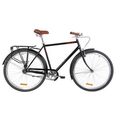 """Велосипед 28"""" Dorozhnik COMFORT MALE 14G St с багажником зад St, с крылом St (черный)"""