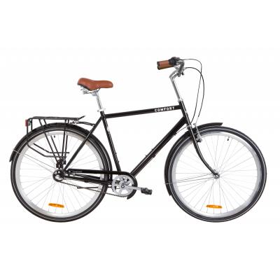 """Велосипед 28"""" Dorozhnik COMFORT MALE планет. (черный)"""