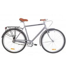 """Велосипед 28"""" Dorozhnik COMFORT MALE 14G St з багажником зад St, з крилом St (сірий)"""