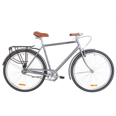 "Велосипед 28"" Dorozhnik COMFORT MALE 14G St с багажником зад St, с крылом St (серый)"
