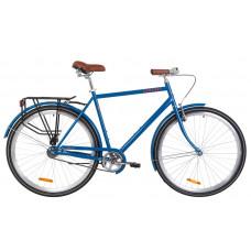 """Велосипед 28"""" Dorozhnik COMFORT MALE 14G St з багажником зад St, з крилом St (синій)"""
