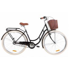"""Велосипед 28"""" Dorozhnik RETRO планет. (чорний)"""