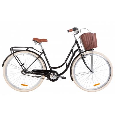 """Велосипед 28"""" Dorozhnik RETRO планет. (черный)"""