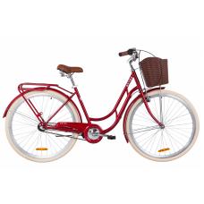 """Велосипед 28"""" Dorozhnik RETRO планет. (рубіновий)"""