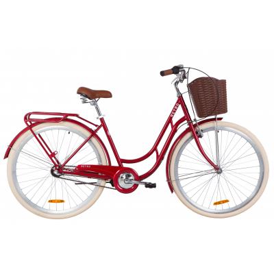"""Велосипед 28"""" Dorozhnik RETRO планет. (рубиновый)"""