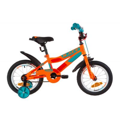 """Велосипед 14"""" Formula RACE посилен. St з крилом Pl 2019 (помаранчево-бірюзовий)"""