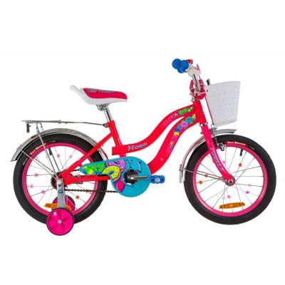 """Велосипед 16"""" Formula FLOWER 14G St з багажником зад St, з крилом St 2019 (рожевий)"""